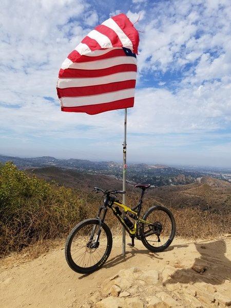 Top of the hill, Santiago Oaks Regional Park