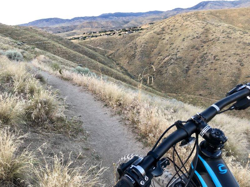 Some steep terrain.