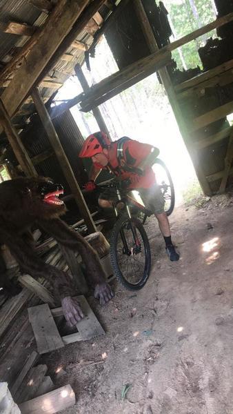 Ride through the barn... beware of the werewolf