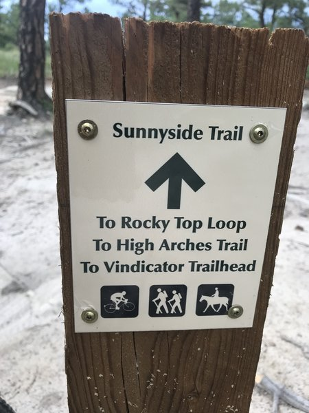 New trail signs for the Ute Valley re-routes (2019)
