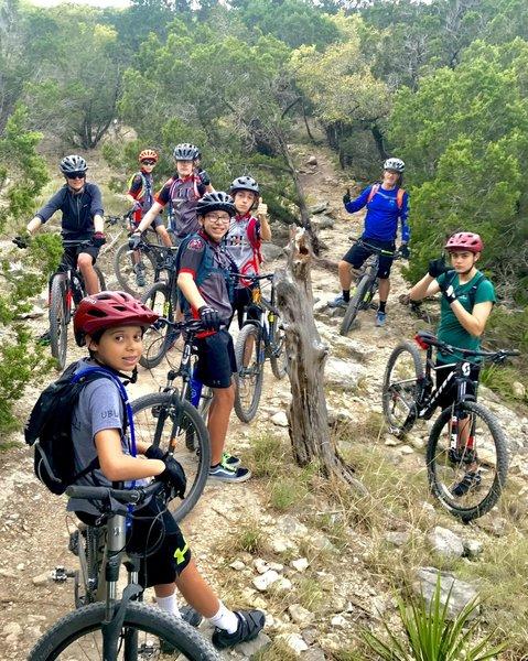 Kids preride before xc race