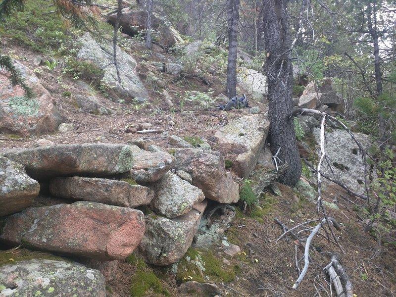 Rock walls on Cabin Creek Trail