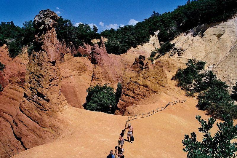 'Colorado Provençal': colorful ochre mines near Rustrel.