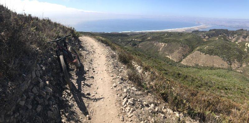 Near top of hazard trail