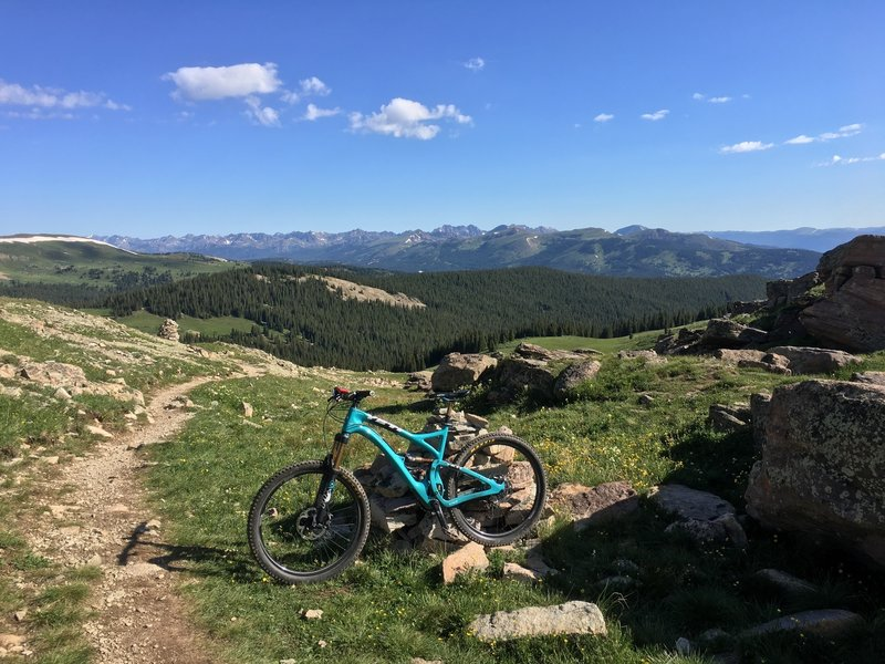 Looking back towards Copper Mountain atop Searle Pass.