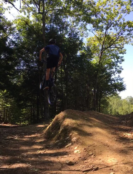 Sending one of the jumps on this trail.