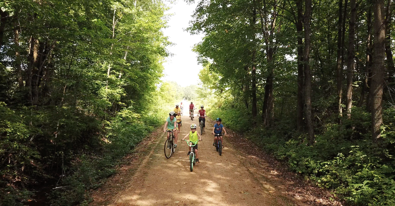 The Gandy is great for group rides and people of all ages and abilities.
