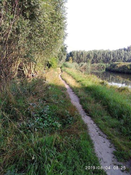 "Trail along the ""Moervaart"" River."