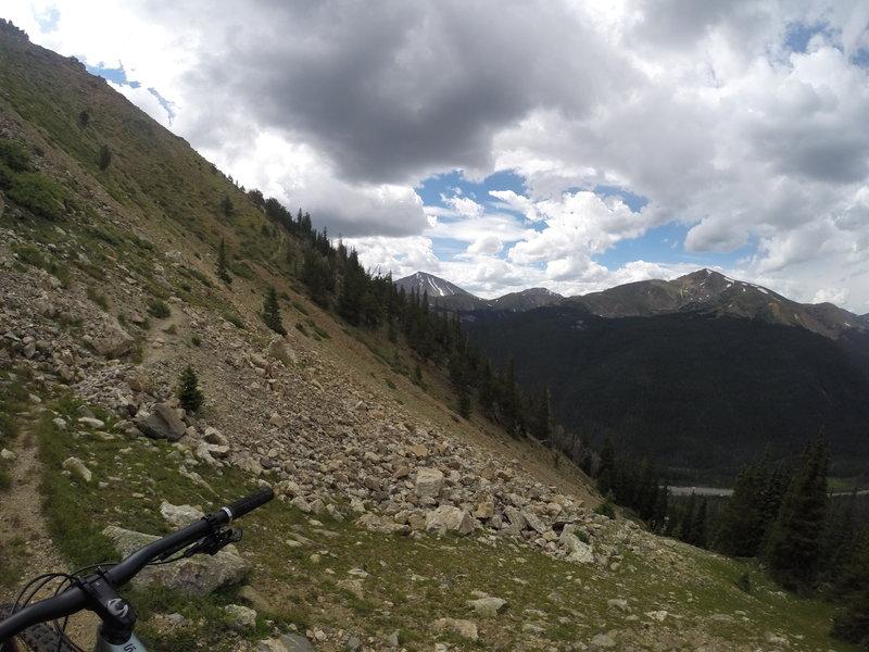 The beginning of Bard Creek Trail