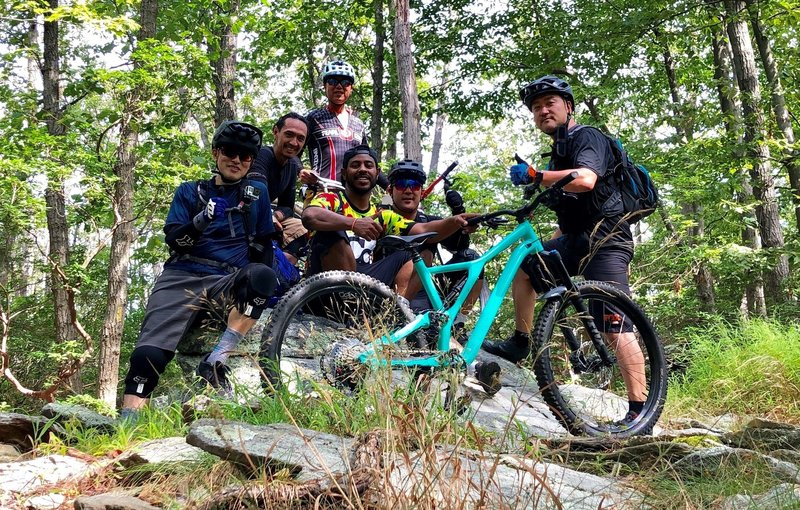 Shredding the trails at Gambrill