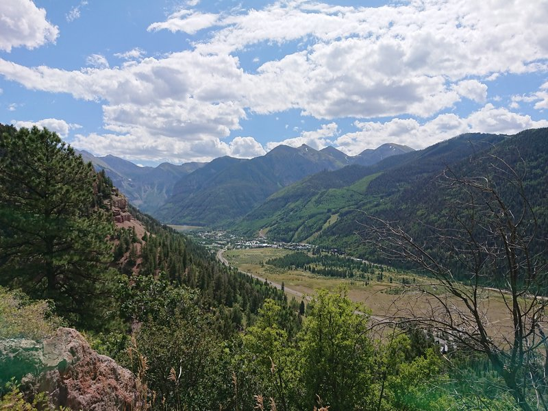 A view of Telluride from Mill Creek Road.
