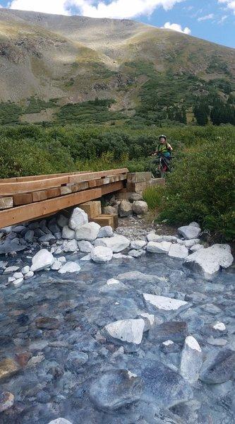 Bridge over Peru Creek.