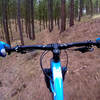 Cruising through the ponderosa pines on the North Shore Trail.