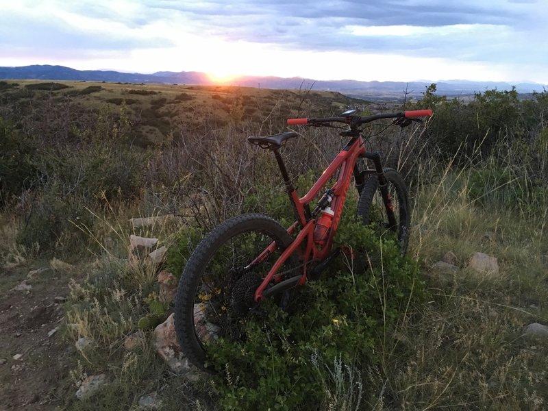 Sunset ride on the Ridgeline system.