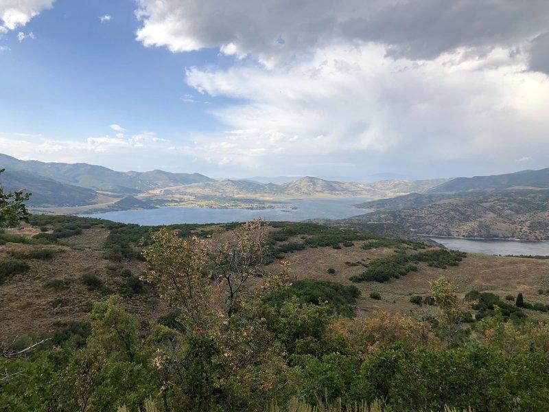 Jordanelle reservoir from Coyote Loop
