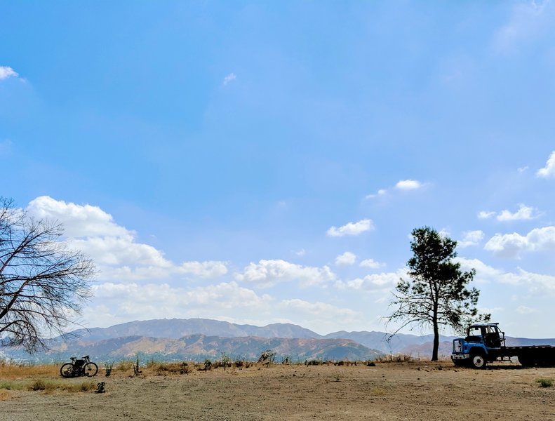 View of the Verdugo Mountains from The Hog Farm