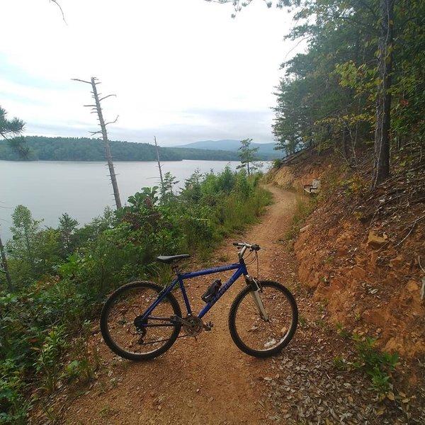 Fonta Flora State Trail County Park Section Mountain Bike Trail Glen Alpine North Carolina