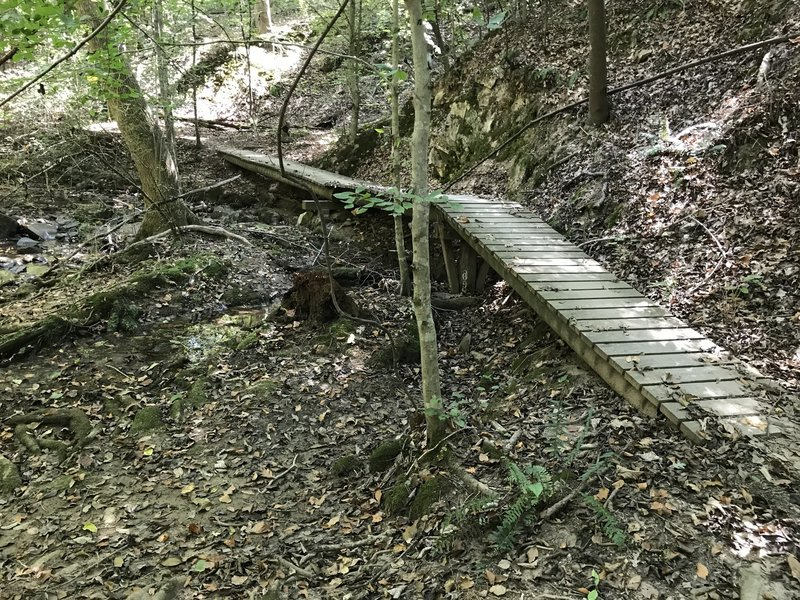 Erick's Bridge.  Built as part of an Eagle Scout project.