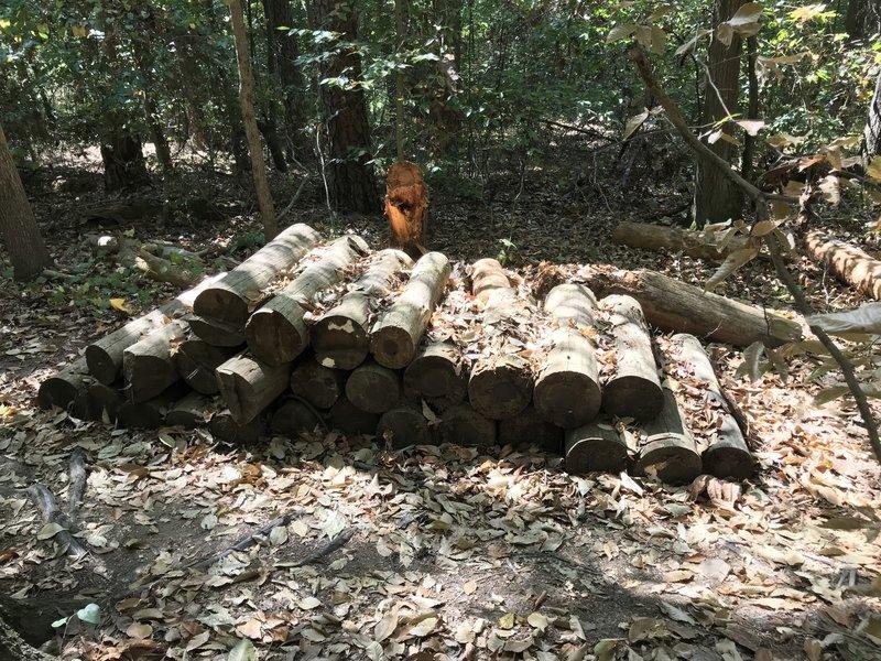 Tricky log roll