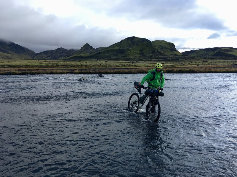 One of several wet river crossings