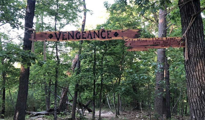 You can't miss the start of trails with signs like this.