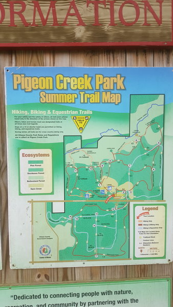 Pigeon Creek detailed course map