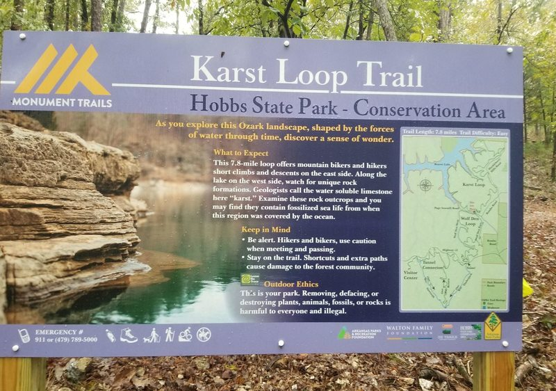 Welcome to the Karst Loop trail.