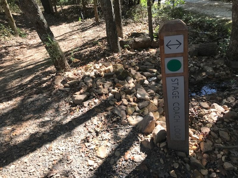 Nice signage in trail.