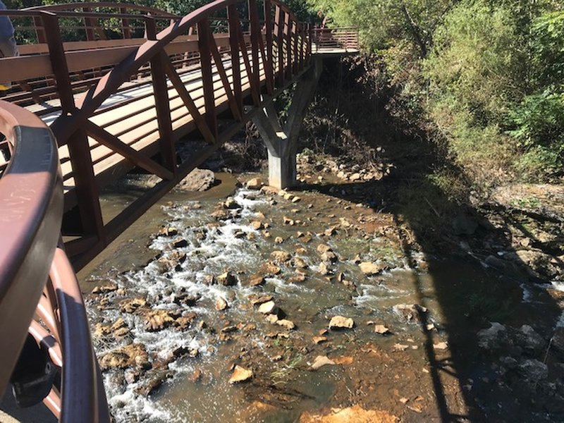 Bridge over the waterfall.