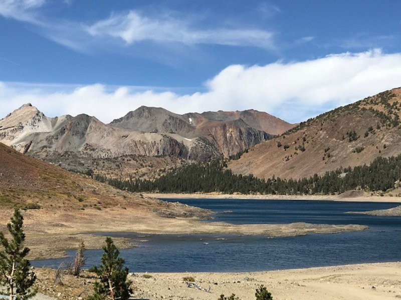 September 2018 Lake level was low.  Very windy and cold at that high elevation.  Road getting there is bumpy.
