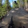 Riding up a jump
