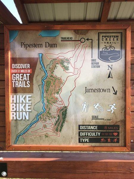 Trail Map Board at Trailhead