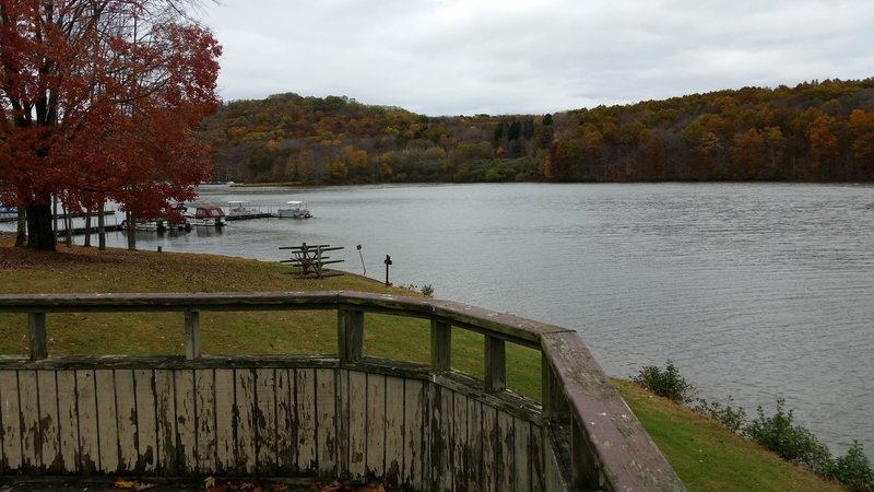 Taking in the sites at the boat launch and rest area.