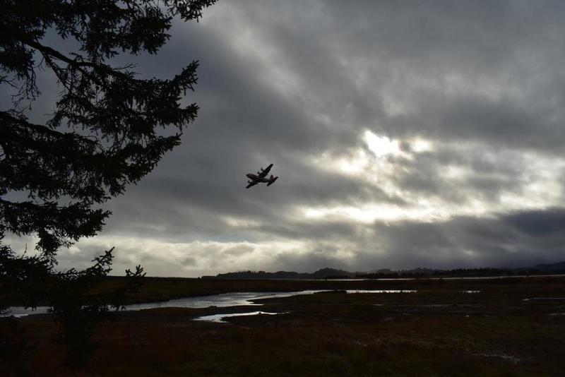 Coast Guard C-130 overflight.