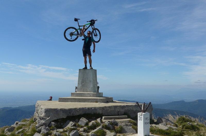 Top of Matajur; borderline Italy-Slovenia