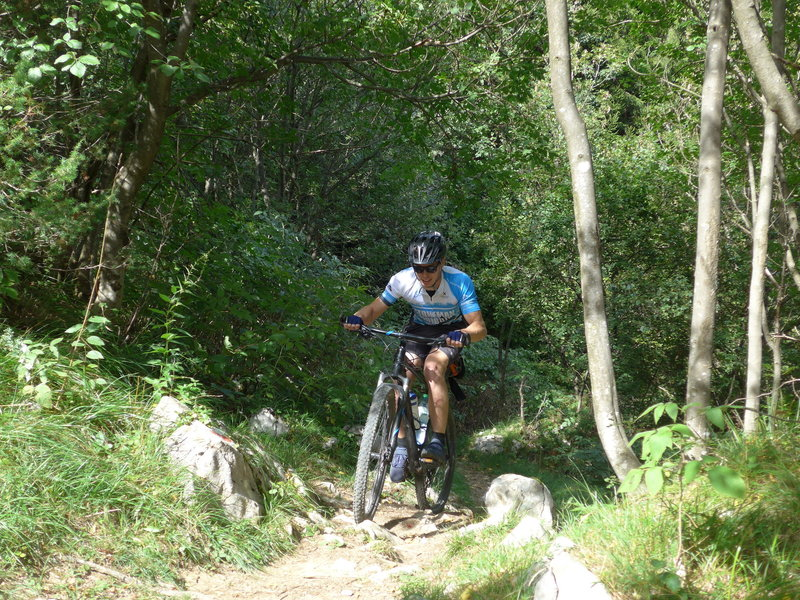 Climbing a few meters at the middle part of MataDown-Trail (elev. 1000m).