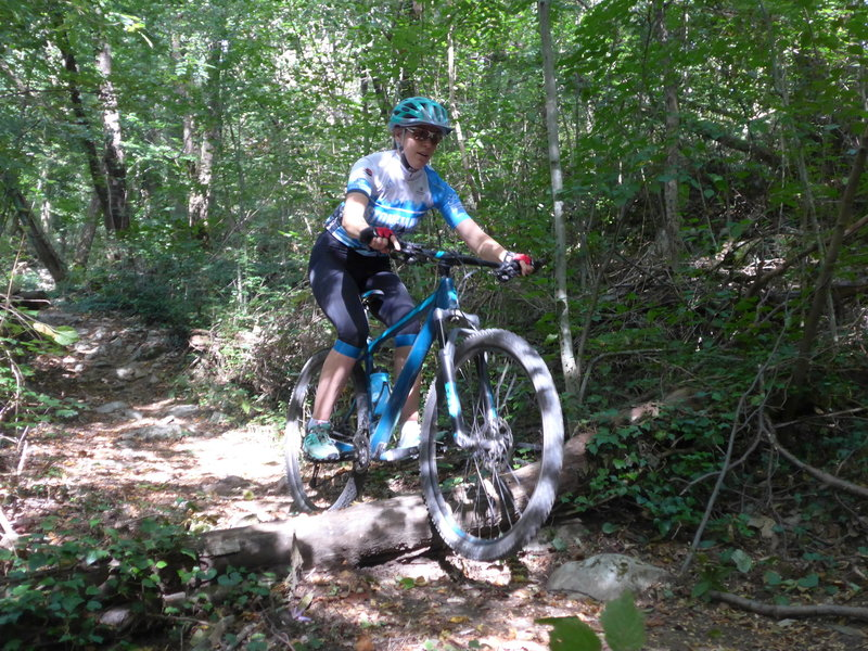 Riding the lower part of MataDown-Trail (elev. 450m). Getting a rocky ascent before - here it's flowy again.