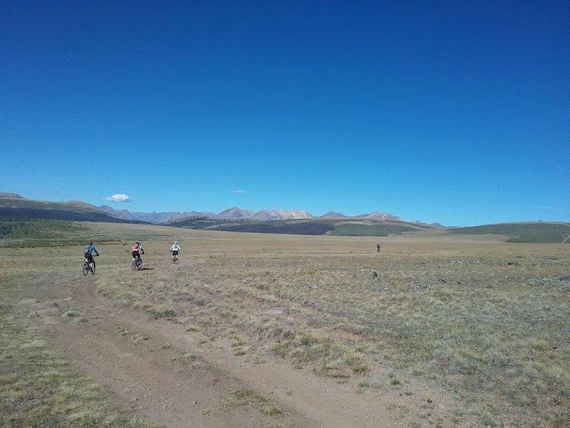Riders head northwest towards junction of Colorado Trail.