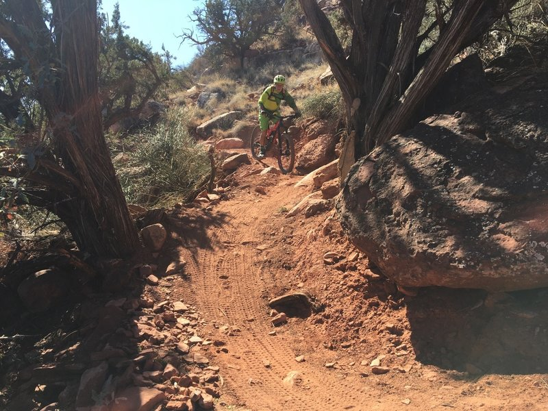 The sidle into Dry creek