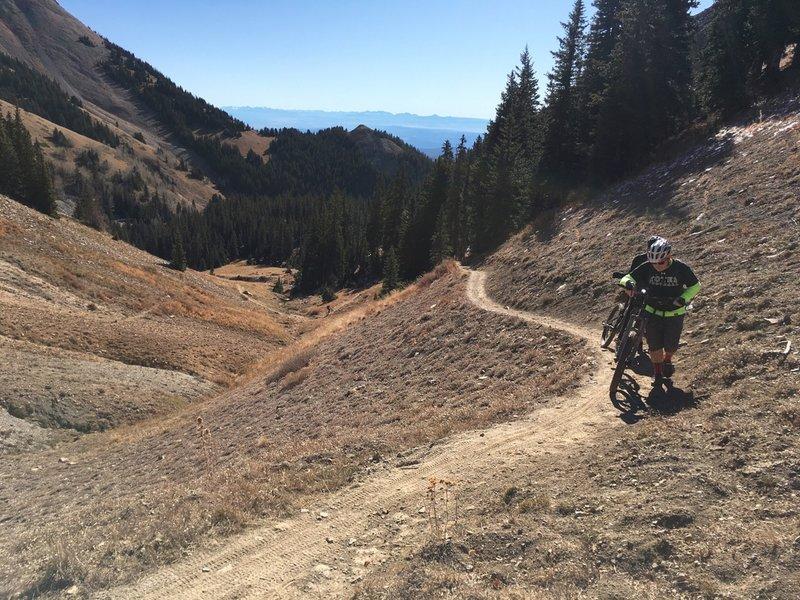 The climb Burro Pass