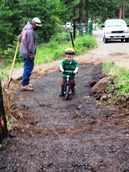 First Tracks on a Strider Bike--Teething/Honor Roll/Parent Trap Trails