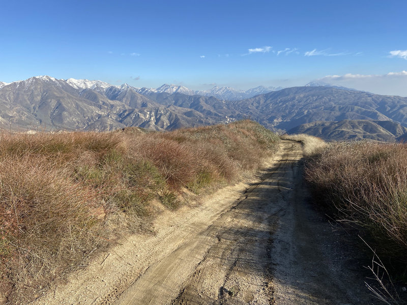 Great views heading back down the Kagel Mt. road