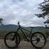 Hardtail overlooking the foothills on the backside of the Great Smokey Mountains.
