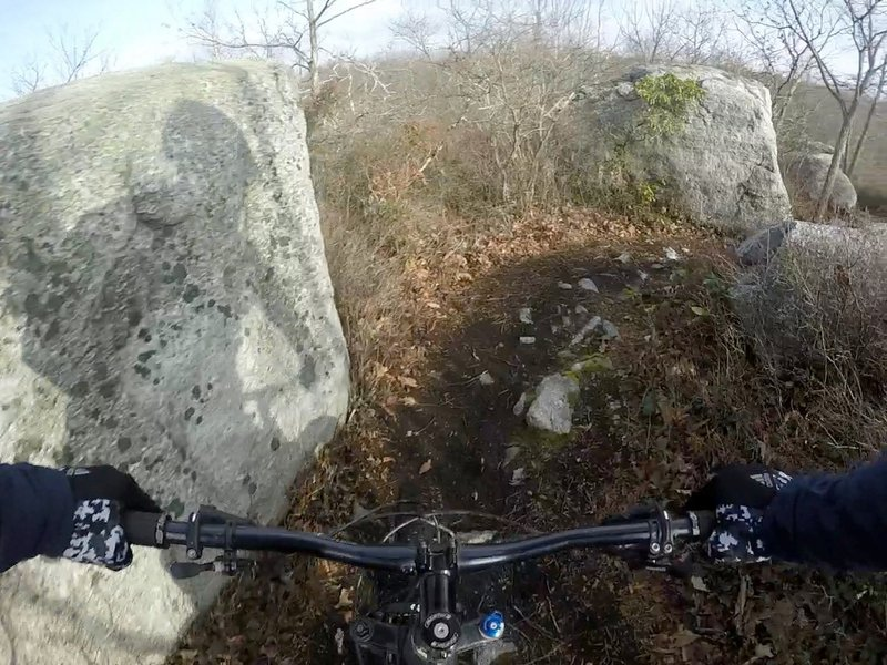 Big rocks on the Stonehenge Trail.