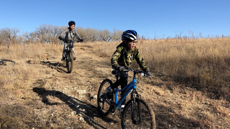 These boys were having a blast on the trail!