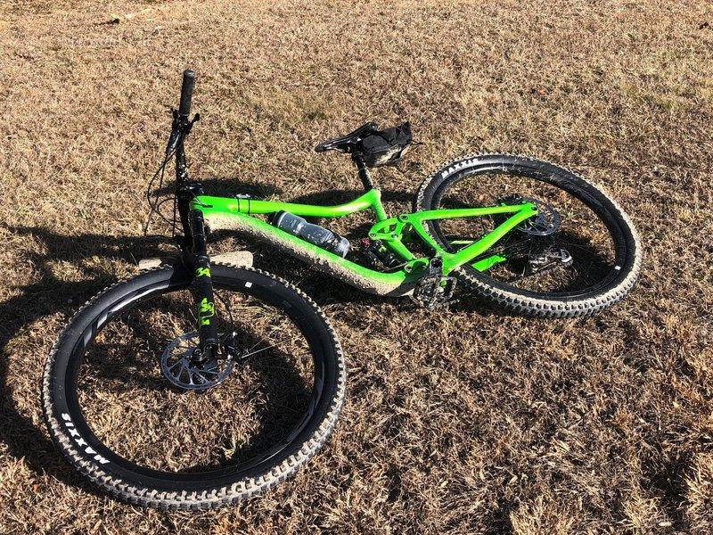 A dirty bike is a happy bike in Ohio on a 59 degree February day!