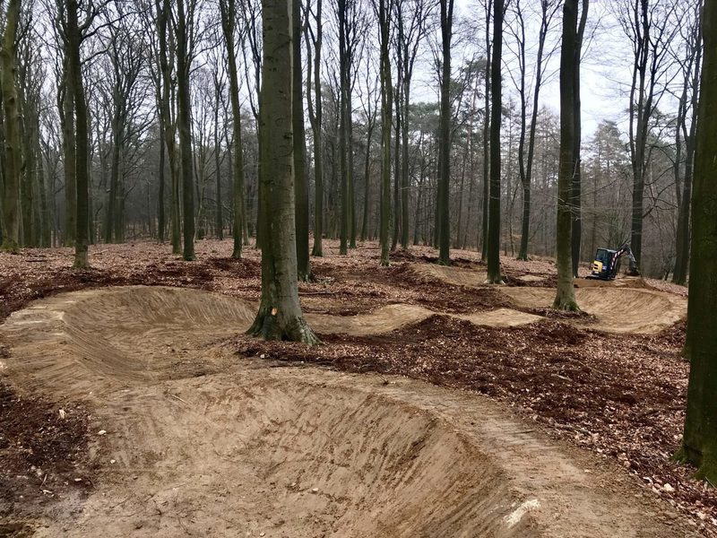 Brand new pump track, already finished