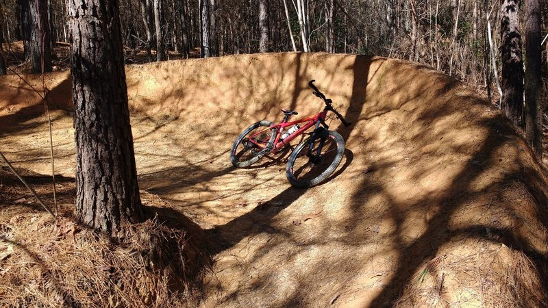 One of the many sweet berms on the trail.