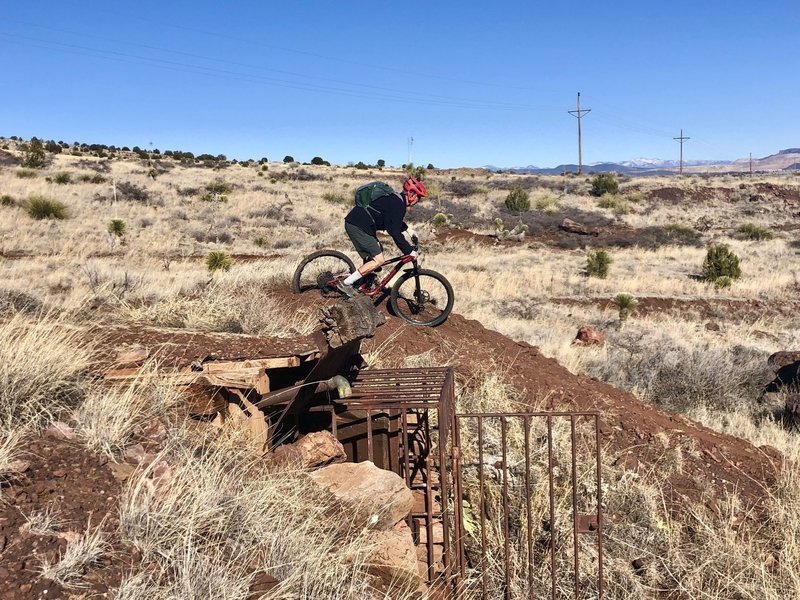 Dropping into the Dynamite Jump Line from the top of the old Magazine/Explosives Depot.