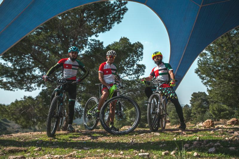 Jordan national mountain biking Team - R to L Suhib / Ameen / Mahdi
